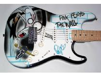 Roger Waters Autographed Signed Pink Floyd Airbrush Guitar PSA/DNA