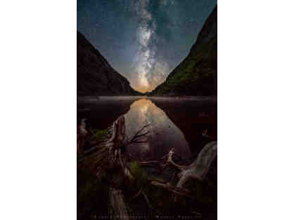 "Manuel Palacios, ""A Starry Night Over Avalanche Lake"", Framed Photograph"