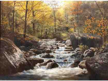 "Bruce Mitchell Oil Painting ""Stream"""