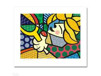 """TENNIS GIRL"" by RENOWNED Artist Romero Britto"""