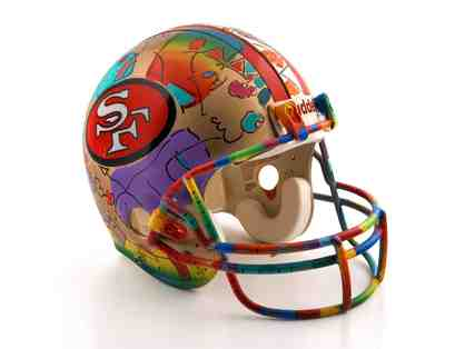 """*1994 Very Rare Peter Max Original Painting on NFL Lic.,San Francisco 49ers helmut""!"