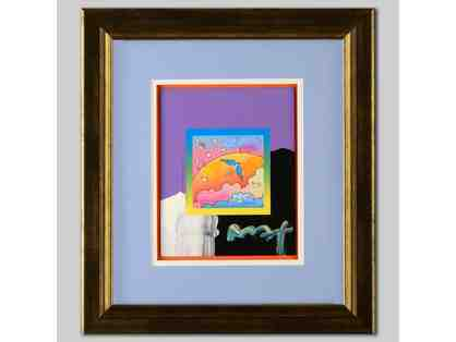 "1 ONLY! *""ANGEL WITH CLOUDS"" ORIGINAL WORK BY PETER MAX!: UBER COLLECTIBLE!!"