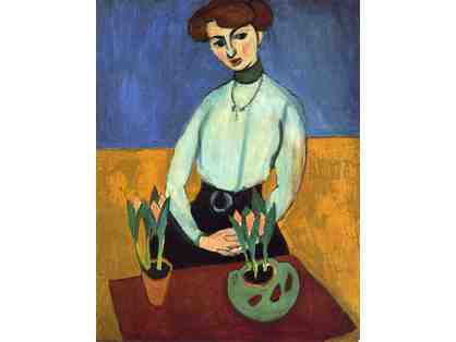 "A3 GICLEE PRINT (BID) OR 30X40"" CANVAS (BUY NOW): ""Girl With Tulips"" by Henri Matisse"