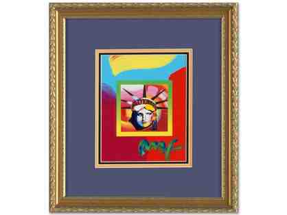 """LIBERTY HEAD"": ORIGINAL WORK by Peter Max! Extremely COLLECTIBLE!!!"