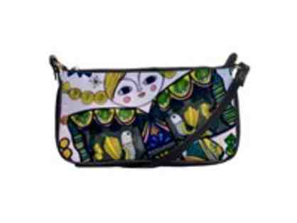 """Kimono Girl"": Custom Made ART/Leather Shoulder Clutch: EXCLUSIVE to ART4GOOD Auctions!"