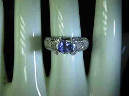 #6: Very Rare and Precious Tanzanite and Diamond, Custom Made Ring!