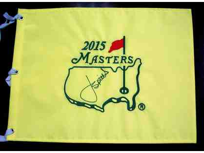 Jordan Spieth 2015 Masters Champion Autographed Pin Flag