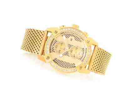 Men's 43mm Specialty Quartz Chronograph Crystal Accented Stainless Steel Watch