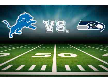 Four Tickets: Detroit Lions vs. Seattle Seahawks Lower Level Sideline