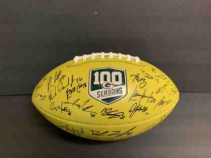 Green Bay Packers 2018 Squad Autographed Football