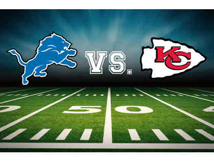 Four Tickets: Detroit Lions vs. Kansas City Chiefs Club Level Sideline