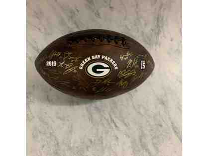 Green Bay Packers 2019 Squad Autographed Football