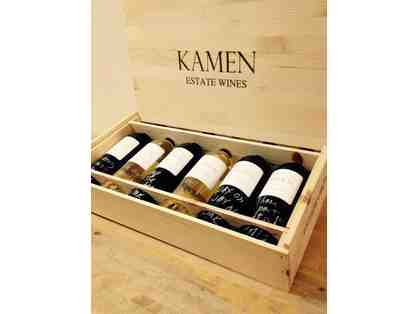 Kamen Estate Wines - Six Bottles Signed by Robert Kamen presented in a Wooden Gift Box