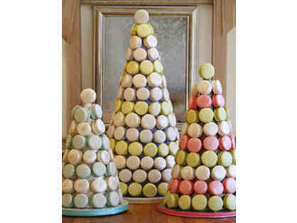 Tower of 50 French Macaron Cookies