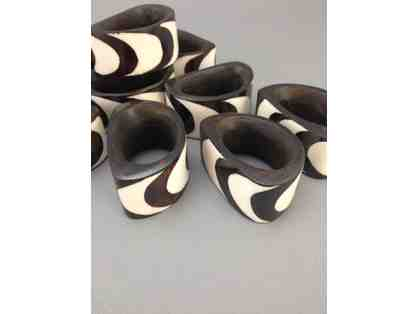 12 African Napkin Rings