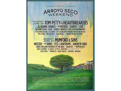 Arroyo Seco Weekend Music Festival - 2 VIP Passes for June 24-25th 2017