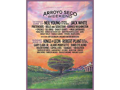 Arroyo Seco Weekend Music Festival - 2 VIP Passes for June 23rd-24th 2018