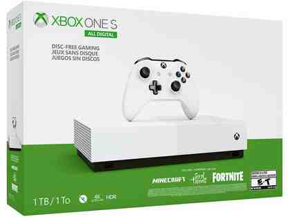 Xbox One S 1TB All-Digital Edition Console with Disc-Free Gaming