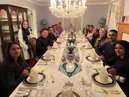Private Meal for Eight Guests with the High Commissionner of Malaysia in Ottawa