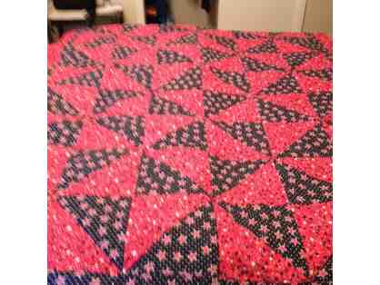 Warm and Cozy Reversible Americana Quilted Throw!