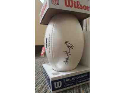 Charles Harris signed NFL football