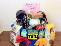 Autographed Tom Brady Football & Ultimate Tailgate Basket