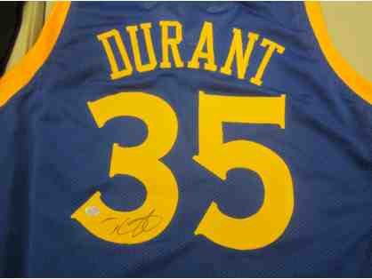 Kevin Durant Golden State Warriors Autographed Basketball Jersey