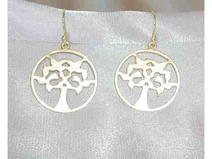 Gold colored Tree of Life Earrings