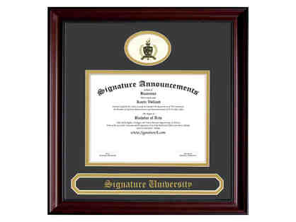 5 Cherry Finish with Beaded Accents Diploma Frames by Signature Announcements