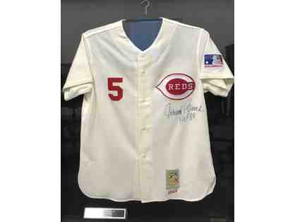 Johnny Bench Autographed 1989 Hall of Fame Framed Jersey Cincinnatti Reds