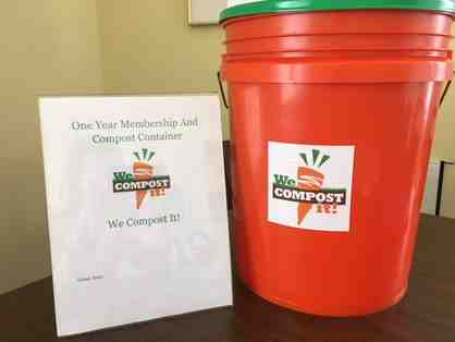 "Gift Certificate for 1 yr ""We Compost It"" membership. Bucket included."