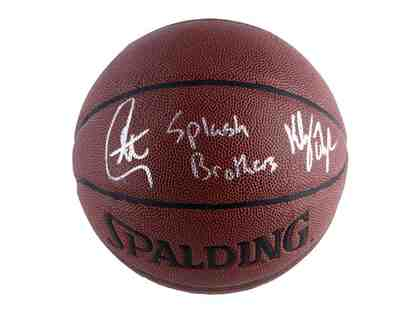 Splash Brothers Curry/Thopmson Signed Basketball