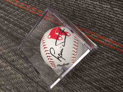 Autographed baseball by Boston Red Sox Hall of Famer Luis Tiant