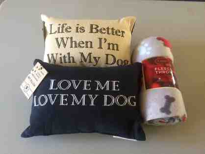 Doggie Pillows and Blanket