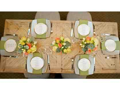 Catered Lunch or Dinner for 10 Guests plus $100 in Decorative Flowers
