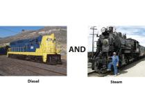 Be the Engineer on both a Steam & a Diesel Locomotive