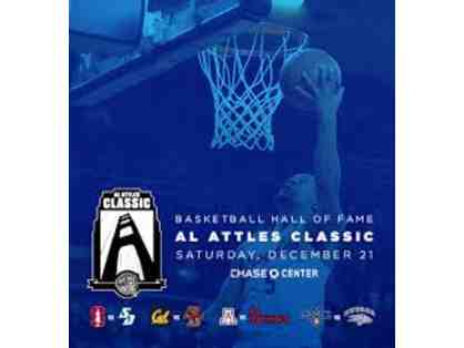 Two (2) Mid-Court Seats at the Al Attles College Classic Dec 21st -Chase Center in SF
