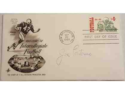 Joe Paterno Autographed Envelope Celebrating 100 Years of College Football