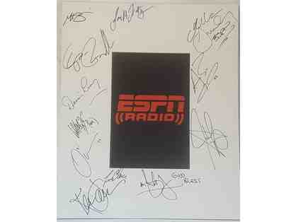 ESPN Radio Celebrity Autographed Display