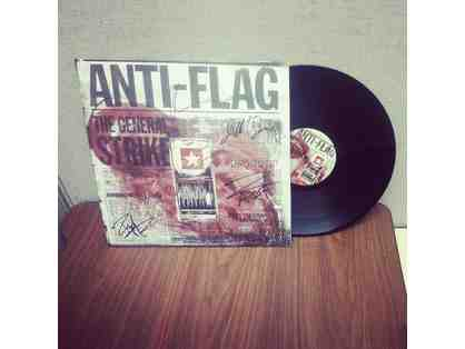 "ANTI-FLAG 12"" Signed Vinyl Record & 14'' Autographed Drum Head Set!"