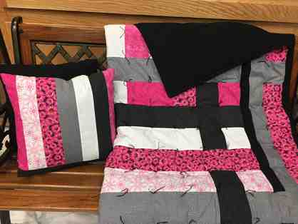 Handcrafted Modern Quilt and Pillows