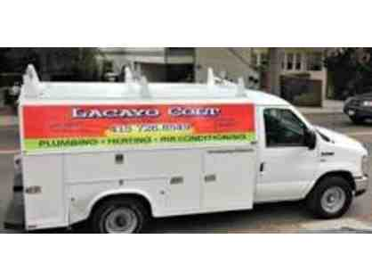 $1,250 in plumbing/heating services from Lacayo-Colt Plumbing and Heating!