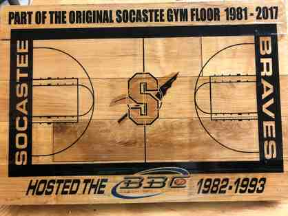 Piece of SHS Athletic History Part of the Gym floor from the Original Beach Ball Classic