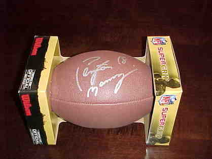 Peyton Manning Autographed Football