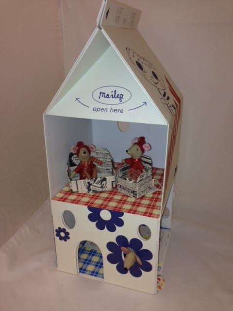 Maileg Milk Carton Mouse House Furniture Family B4g Mobile