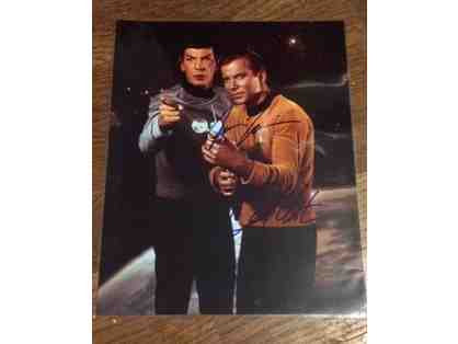William Shatner & Leonard Nimoy Star Trek Autographed Photo