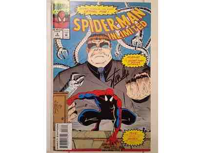 Stan Lee Marvel Autographed Spiderman Comic