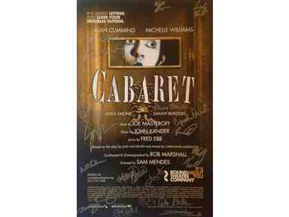 ORIGINAL SIGNED CABARET CAST POSTER - ALAN CUMMING & MICHELLE WILLIAMS