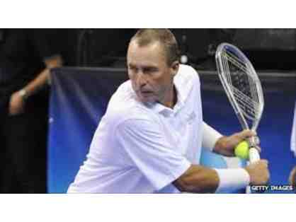 IVAN LENDL, TENNIS LESSON WITH