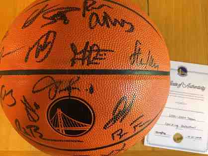 Golden State Warriors Team Autographed Basketball